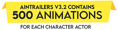 AinTrailers v3 - 500 Character Animations for After Effects