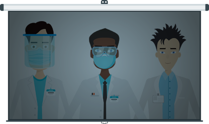 Coronavirus Medical Characters - Male
