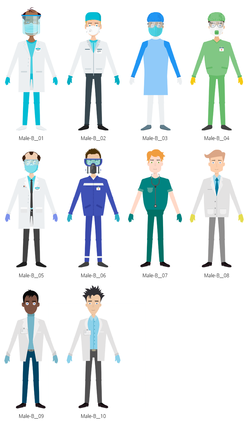 Medical COVID-19 Characters - Male B