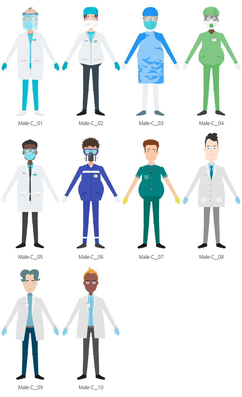 Medical COVID-19 Characters - Male C